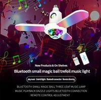 Lampadina a led, 40W E27 Bluetooth Crystal Ball Ball Musica Light Telecomando RGB Pieghevole 3 foglie Lampada deformata per la festa di casa Natale, AC 85-265V