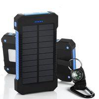 20000 mAh Güneş Enerjisi Bankası Cep Telefonu Çift USB Bağlantı Noktası Şarj Cihazı Harici Yedekleme Pil ile Perakende Kutusu Ile Xiaomi Samsung