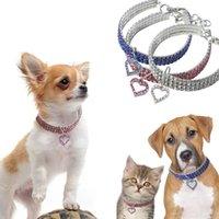 Herzförmige Strass Anhänger Nette Hund Halskette Pet Kragen Zubehör Schmuck Halskette Für kleine Hunde Große Hund Katzen