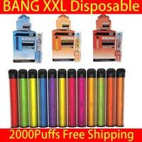일회용 전자 담배 Bang XXL vape 펜 2000 퍼프 포드 장치 키트 로컬 대 퍼프