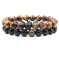 10mm Natural Stone Strands Beaded Bracelets Adjustable Charm For Women Men Lover Yoga Jewelry Fashion Accessories