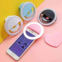 Portable Rechargeable USB Camera Clip Photography Video Mobile Phone LED Ring Selfie Light Factory Directly Sold