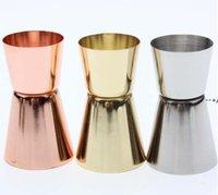 15 30Ml Stainless Steel Cocktail Shaker Measure Cup Dual Shot Drink Spirit Measure Jigger Wine Pourer Bartender Bar Kitchen Tool DWE9496