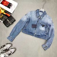 Frauen Jacken Jeans Denim mit Reißverschluss Button Slim für Dame Outwear Windjacke Mantel Frühling Herbst Mode-Stil Jacke Sonnenschutz