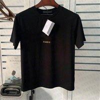 Summer Men Designer T-shirt T-shirt con fibbia in oro Lettera di moda Lettera stampa amanti Tshirt manica corta in cotone Casual Tops Taglia XS-2XL