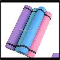 Suministros Deportes al aire libre Entrega de caídas 2021 Yoga sólida 173 cm * 60 cm * 0DOT4CM Matonera de alfombra antideslizante para principiantes Inicio ambiental Inicio Fitnes