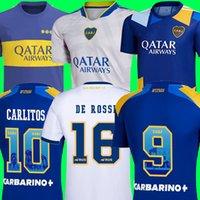 Camiseta do Boca Juniors Soccer Jerseys 2021 2022 Cristian Pavon Tevez Carlitos Maradona Football Jersey De Rossi Almendra Salvio Abila Origs Cabj Kids Kit 21 22