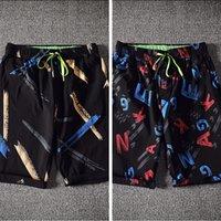 Un 198 estate cinque minuti di pantaloni uomo allentato bello popolare logo Trend Seven 6 pantaloni da spiaggia maschili pantaloncini da fiore pantaloncini pantaloni
