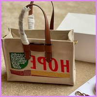 New Women Handbags Designer Tote Lady Lagre Totes Canvas Shopping Bag Bags Fashion Street Casual Cotton Material D217301F