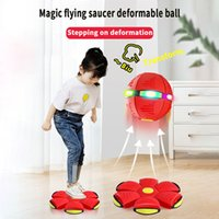 Fidget Toys UFO Fly Ball Saucer Disc Balls Stress Relief Decompression Toy Children Kids Parent-Child Interactive Games Gifts Outdoor Basketball Football with Box