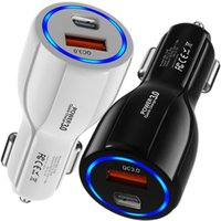 18W Fast Quick Charging USB-C PD Car Charger QC3.0 Auto Power Adapter 2Ports For Iphone 12 13 Pro Max Samsung Tablet PC Gps With BOX