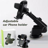 Tenedor de teléfono de alta calidad 360 grados Easy One Touch para iPhone Samsung LG Universal Smartphone Cars Holders Ajustable Celular Montaje de succión