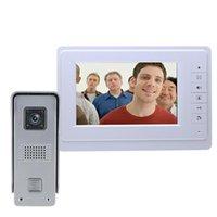 7 '' TFT LCD Système de haut-parleur d'interphone Visual de téléphone Visual avec téléphone portable Visual avec Téléphones de caméra IR de plein air imperméables