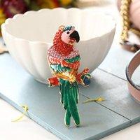 الحلي تصميم الإبداعية الببغاء الطيور قلادة سحر حجر الراين كريستال محفظة حقيبة كيرينغ سيارة سلسلة المفاتيح الملحقات حفل زفاف هدية