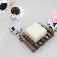 Wooden Natural Bamboo Soap Dishes Tray Holder Storage Soap Rack Plate Box Container Portable Bathroom Soap Dish Storage Box.#eds