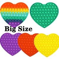Tiktok Big Size Big Size Colorful Push Pops Fidget Bubble Sensory Squishy Stress Stress Reliever Autism Ha bisogno Anti-stress Pop-It Rainbow Toys adulto