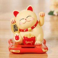 Figurine di gatto fortunato cinese figurine solare ondeggiamento d'oro ondeggiamento della mano su ricchezza accoglienza di buona fortuna artigianato regali di compleanno regali decorativi oggetti decorativi