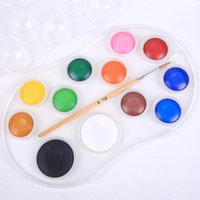 Gift Sets Children students 12-color Solid PP Box Gouache Watercolor Painting Tray Removable Art Supplies For Artist CN(Origin)