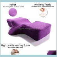 Pillow Bedding Supplies Home Textiles & Garden Eyelash Extension Memory Foam Ergonomic Curve Fashion Perfect Concave Neck Support Head