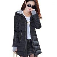 Kış Ceket Kadınlar Sıcak Ceket Artı Boyutu 4XL Pamuk Yastıklı Ceket Kadın Uzun Parka Bayan Gövde Kapüşonlu Chaqueta Mujer1