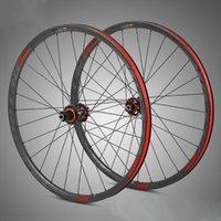 عجلات الدراجة MTB دراجة 3K الكربون العجلات 27.5 29er عمق 30 ملليمتر عمق dwear thru المحور الإفراج السريع أربعة تحمل محور 28holes دورة f / v
