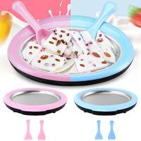 Mini Fried Yogurt Machine, Ice With 2 Spatulas, Homemade Cream Rolls, Tray, Kitchen Accessories. Baking Moulds