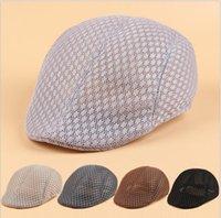 Men's and women's berets sprin summer breathable mesh caps casual newsboy hats sunscreen sun hat