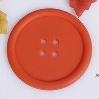 Yuvarlak Coaster Isıya Dayanıklı Kaymaz Su Şişeleri Pedleri Kahve İçecek Cu Placemat Su Geçirmez Düğme Şekilli Çay Boasters Mat LLF8605