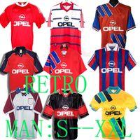 1995 2001 Matthäus # 10 94 95 96 97 98 99 00 01 Bayern Retro Jerseys Munique 02 Final Elber Zickle Effenberg Pizarro Scholl 1997 1999 Matthaus Klinsmann Camisas de futebol