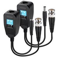 Kable audio złącza HD-CVI / TVI / AHD Balun Video z złączem zasilania i Nadajnik Data Cat5 RJ45 1 Para
