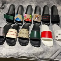 Clásicos Sandalias Diseñador Zapatillas Slides Floral Brocade Gear Bottoms Flip Flozs Hombres Mujeres Rayas Playa Causal Slipper Home011 01