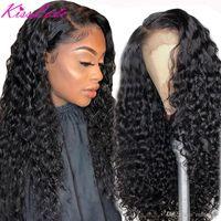 Onda profunda 13x6 13x4 Frente de encaje Pelucas de cabello humano para mujeres negras Prepluck sin glanas Brasileño Rizado 5x5HD Cierre de encaje Peluca