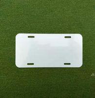Placa de aluminio de sublimación de aluminio en blanco Hoja de aluminio blanco DIY Placas de publicidad de transferencia térmica DIY Logotipo personalizado 15 * 30 cm 4holes DWF6089