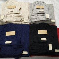 Дизайнер Мужские шарф шарф перчаток набор роскошные шляпы вязаные крышки лыжные шарфы маска унисекс зимние находятся на наличие моды