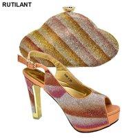 Dress Shoes Italian Ladies and Bags per abbinare Set con Strass Donne Vendita Matrimonio