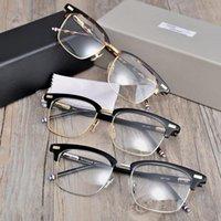 York Thom Marca Design Óculos Quadro Para Homens Mulheres Quadrado Semi Semi Rimless Eyeglasses Prescrição Óptica Eyewear TB711 Moda óculos de sol Fram
