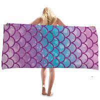 Sirena Playa Toalla Microfibra Toallas de baño grandes para niñas Kids Quick Dry Niños Piscina Manta Fors Travel Sea Envío FWB8836