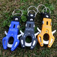 Outdoor survival multi-purpose aluminum alloy medium tiger button Can be used as a key chain hook mountaineering buckle hooks