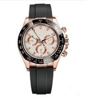 Наручные часы, мастер-дизайн, мужские спорты, керамические часы кольцо, розовое золото корпус из нержавеющей стали, резиновый ремешок, складная пряжка, оптом и в розницу