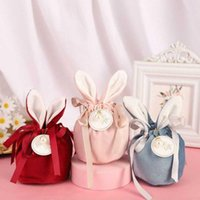 Gift Wrap 3pcs Velvet Easter Wedding Party Goodie Bags Packing Cake Valentine's Day Bag Packaging Candy Cookie Present