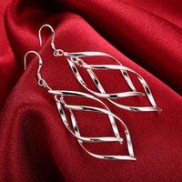 925 Ayar Gümüş Takı Kadınlar Yüksek Kalite Uzun Sopa Küpe Asılı Damla Hoop Düğün Küpe