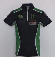 Moto GP Racing Team Рабочая одежда Поло рубашка, Мотоцикл Off-Road Rider Быстрые сушильные Повседневные Футболка с короткими рукавами Назначить тот же стиль