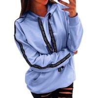 Women's Hoodies & Sweatshirts Women Sweatshirt Plus Size Long Sleeve Solid Stripe Hooded Pullovers Winter Jumpers Tops 1pc
