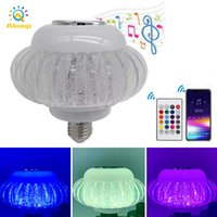 RGB LED Light Bulb Bluetooth Speaker E27 Smart Music Play Bulbs with 24 Keys Remote For Bar Home KTV Party Decor