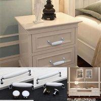 """5 """"Современные простые серебряные белые мебельные ручки белый керамический комод кухонный шкаф дверные ручки хромовые ящики ручки 128 мм 96 мм 489 v2"""