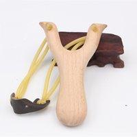 목조 재료 사냥 슬링 샷 고무 문자열 재미 전통적인 아이 야외 슬링 샷 재미있는 사냥 소품 슈팅 장난감 fwe8611