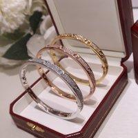 Designers de jóias de luxo pulseiras rosa ouro pulseira de prata pulseira para casais amantes dia dos namorados como presente especial