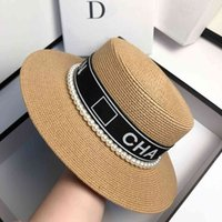 2021 Fashionable light luxury small fragrance pearl top hat for summer travel I2JU