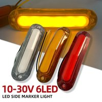 2pcs 6 LED Bulbs Trucks Lighting Car Side Marker Light Trailer Lights Rear Indicator Lamp For Truck Lorry 12-24
