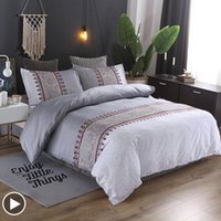 Bedding Sets Sisher Luxury Set Bohemian Floral Printed Duvet Cover Bed Linens Quilt Covers Single Queen King Size Clothes